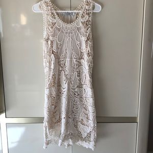 Ivory lace dress by Solitaire